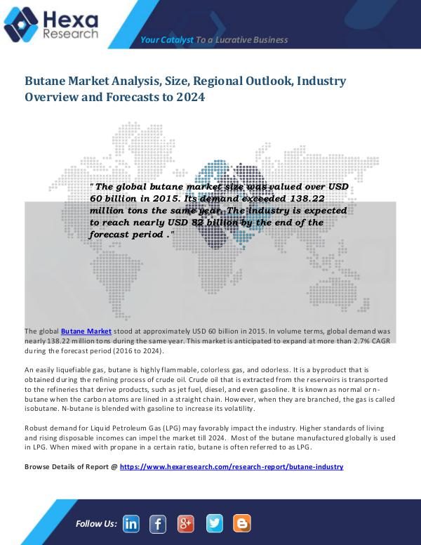 Butane Market Outlook and Analysis 2024
