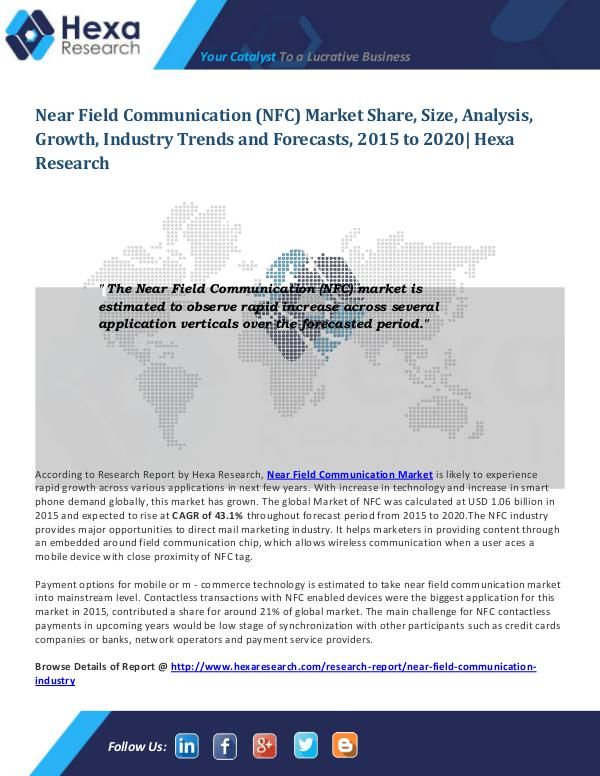 Near Field Communication Market Trends