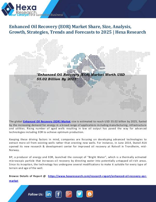 Energy & Power Industry Reports Enhanced Oil Recovery (EOR) Market Size