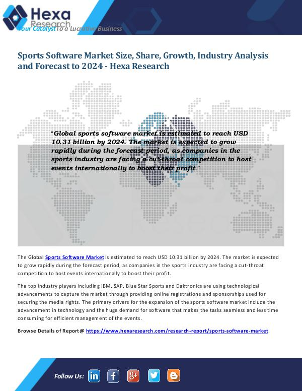 Sports Software Market Analysis