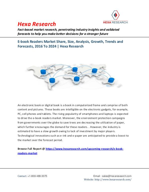 E-book Readers Market-Industry Trends and Growth