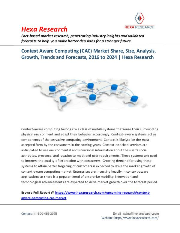 Technology Context Aware Computing (CAC) Market Report