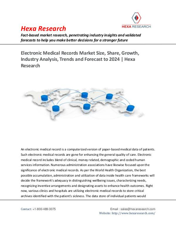 Semiconductors & Electronics Industry Electronic Medical Records Market Trends, 2024