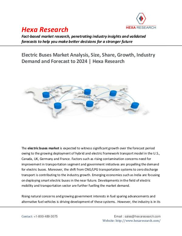 Electric Buses Market Growth, Trends and Forecast