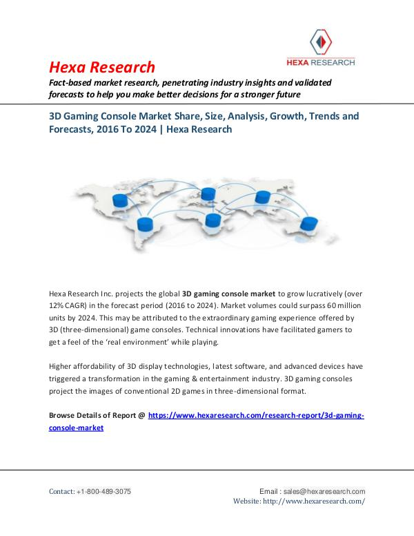 3D Gaming Console Market Share and Analysis Report