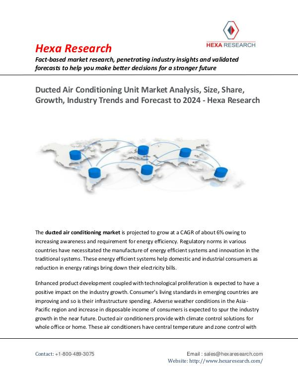 Technology Ducted Air Conditioning Unit Market Insights, 2016