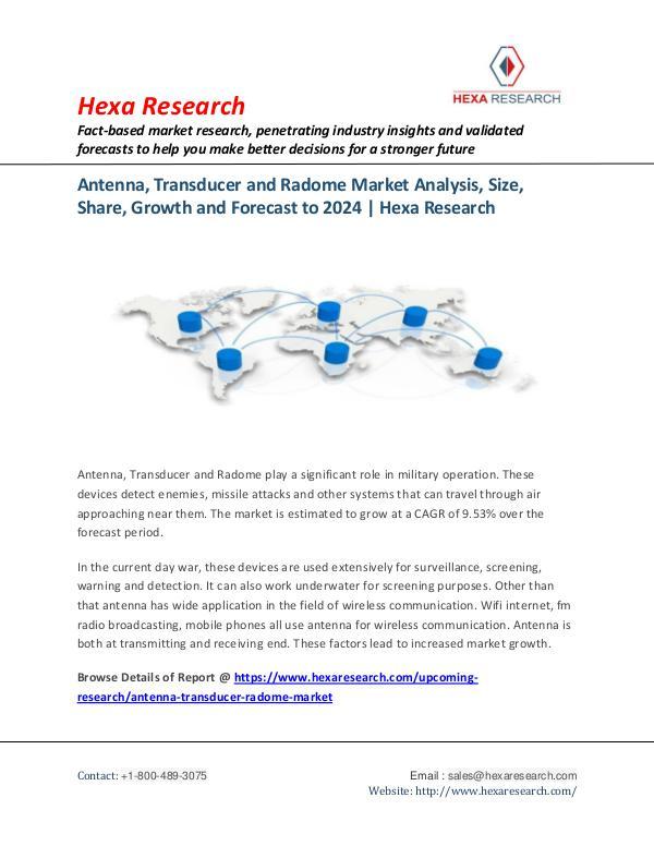 Antenna, Transducer and Radome Market Analysis