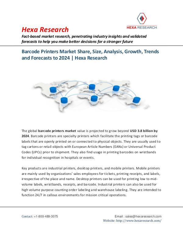 Barcode Printers Market Analysis Report, 2024