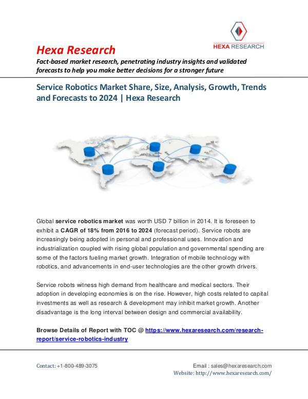Semiconductors & Electronics Industry Service Robotics Market Trends, 2024