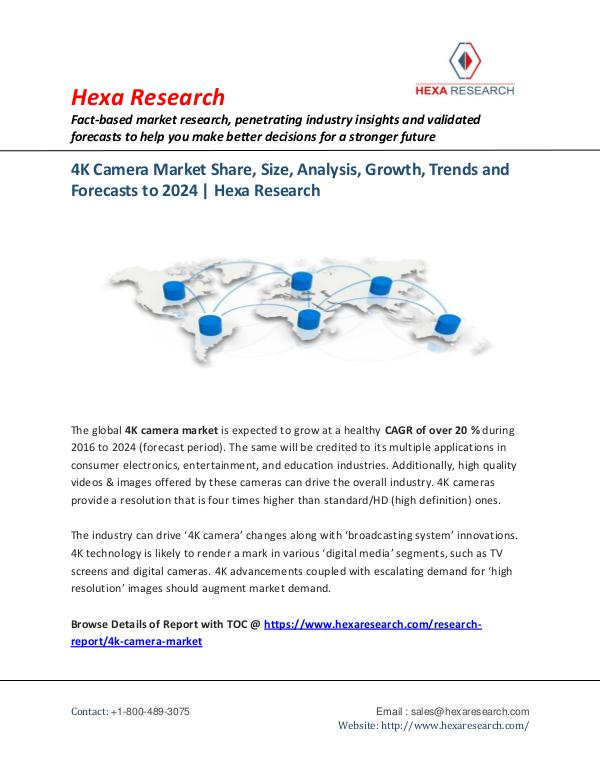 Semiconductors & Electronics Industry 4K Camera Market Research Report, 2024