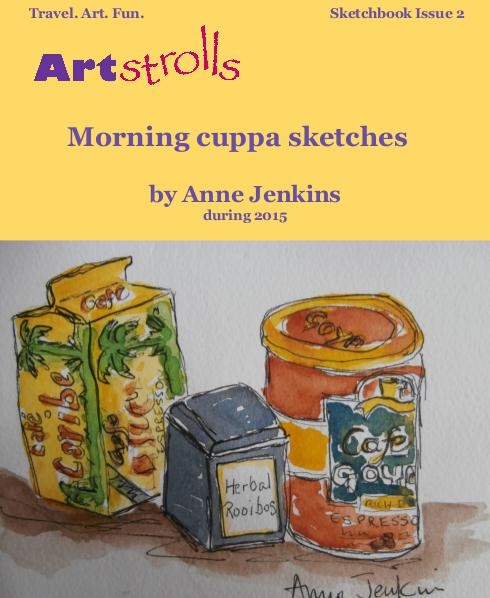 ART Strolls with a Sketchbook Morning Cuppa Sketches July 2016