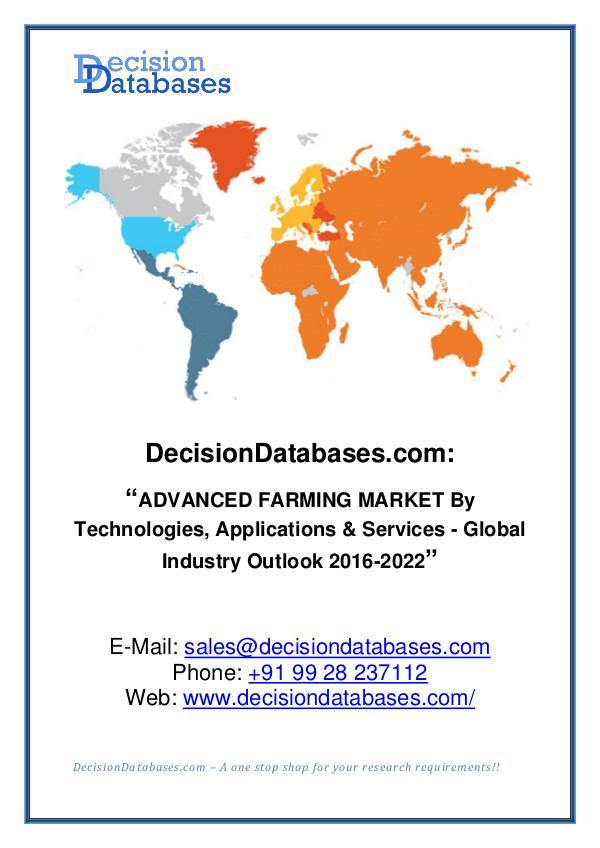 Advanced Farming Market Analysis 2016-2022