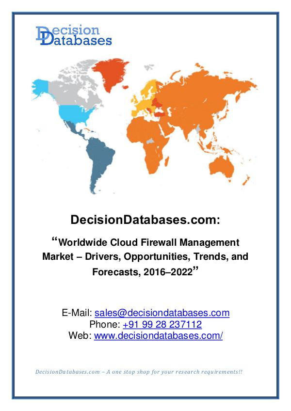Market Report - Cloud Firewall Management Market Share