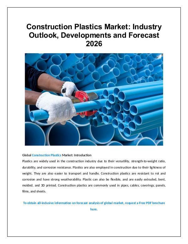 Market Research Construction Plastics Market