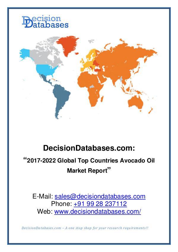 Avocado Oil Market Analysis Report 2017-2022