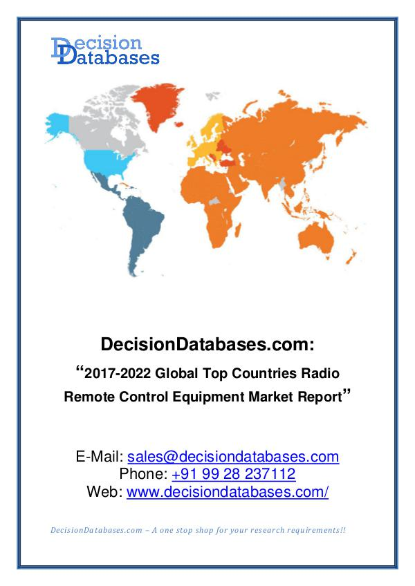 Global Radio Remote Control Equipment Industry
