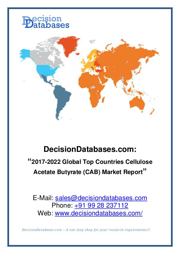 Cellulose Acetate Butyrate (CAB) Market Analysis R