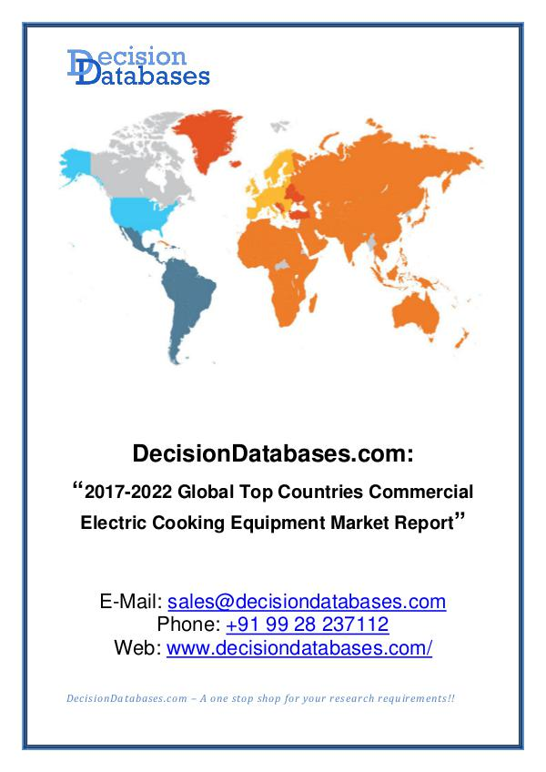 Market Report - Commercial Electric Cooking Equipment Market Share