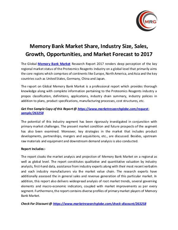 Memory Bank Market Share, Industry Size, Sales, Gr