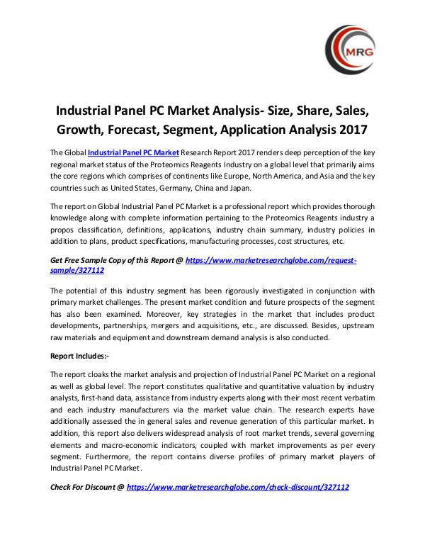 Industrial Panel PC Market Analysis- Size, Share,