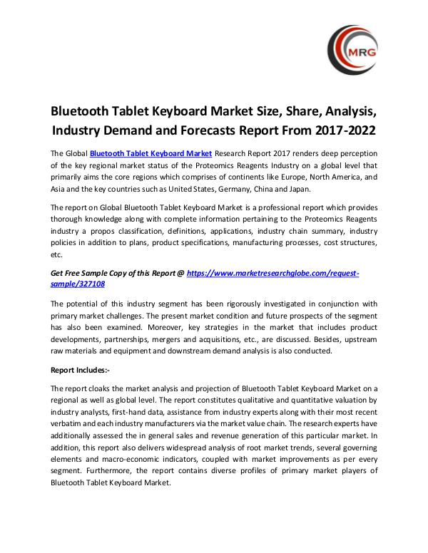 Bluetooth Tablet Keyboard Market Size, Share, Anal