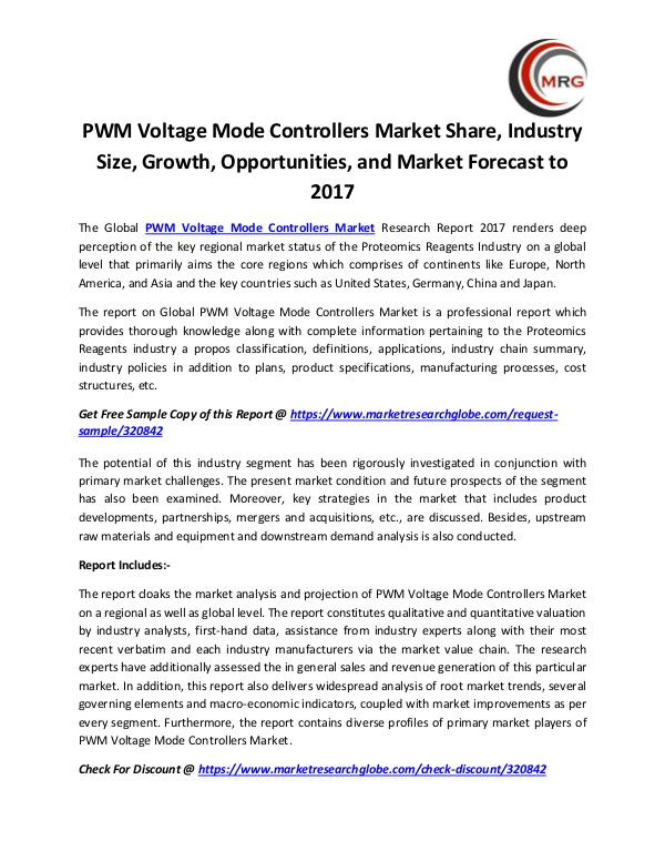 PWM Voltage Mode Controllers Market Share, Industr