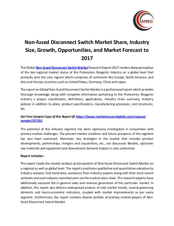 Non-fused Disconnect Switch Market Share, Industry