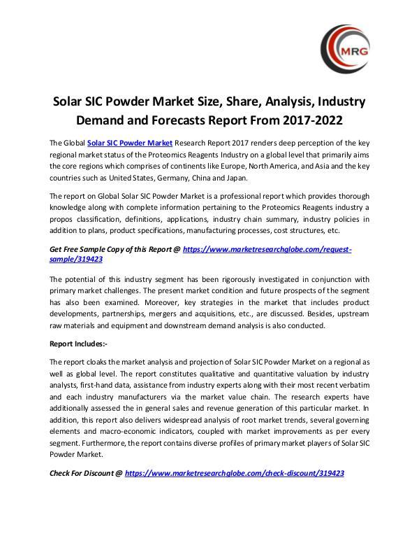 Solar SIC Powder Market Size, Share, Analysis, Ind