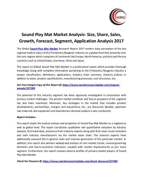 Sound Play Mat Market Analysis- Size, Share, Sales