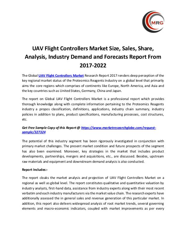 UAV Flight Controllers Market Size, Sales, Share,