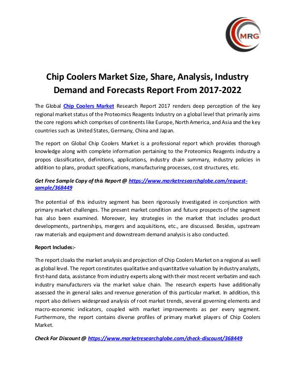 Chip Coolers Market Size, Share, Analysis, Industr