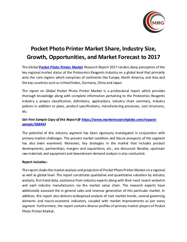 QY Research Groups Pocket Photo Printer Market Share, Industry Size,