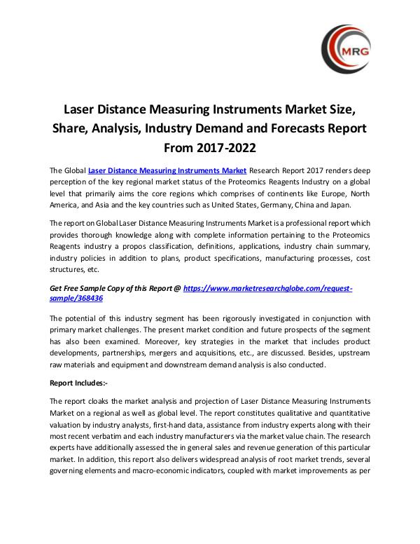QY Research Groups Laser Distance Measuring Instruments Market Size,