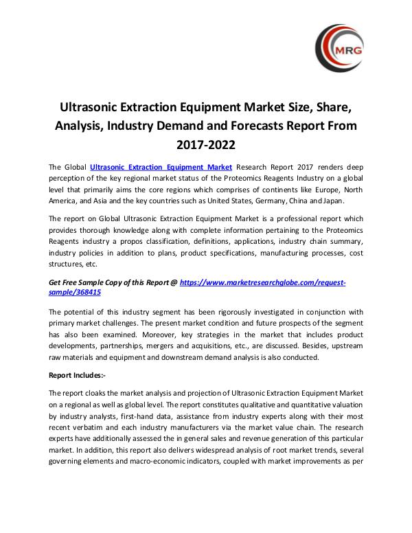 QY Research Groups Ultrasonic Extraction Equipment Market Size, Share