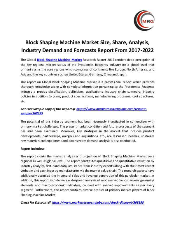 QY Research Groups Block Shaping Machine Market Size, Share, Analysis