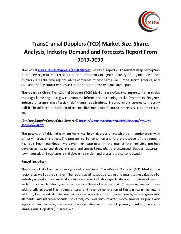 TransCranial Dopplers (TCD) Market Size, Share, An
