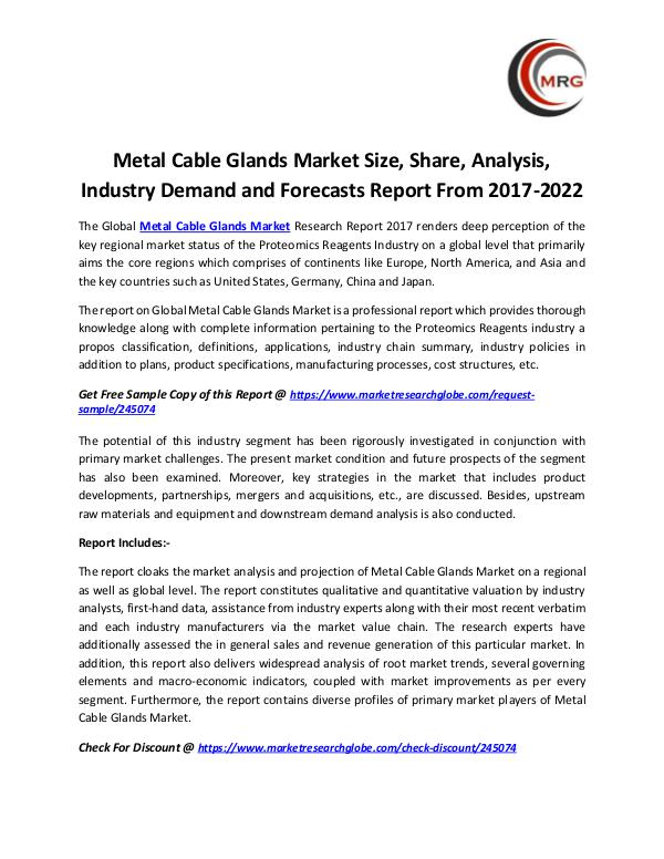 Metal Cable Glands Market Size, Share, Analysis, I