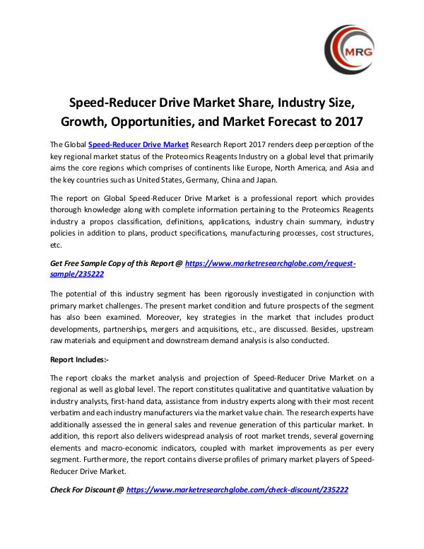 QY Research Groups Speed-Reducer Drive Market Share, Industry Size, G