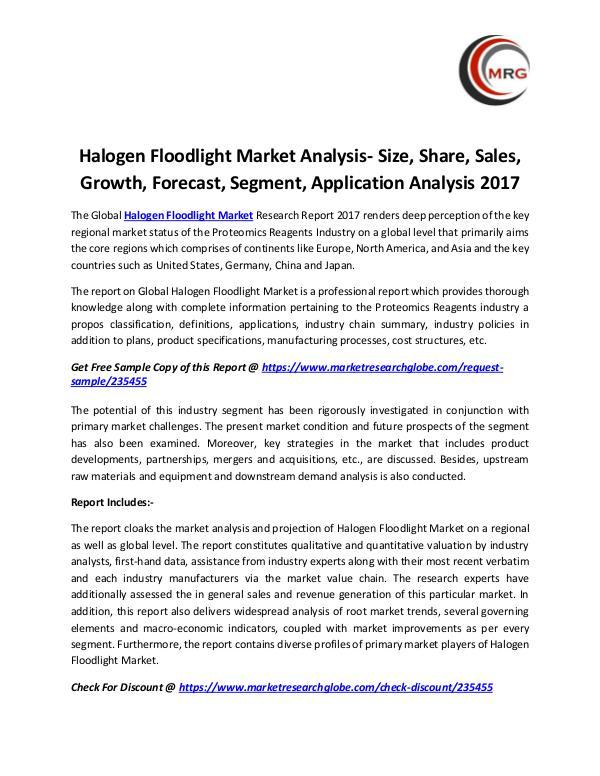 Halogen Floodlight Market Analysis- Size, Share, S