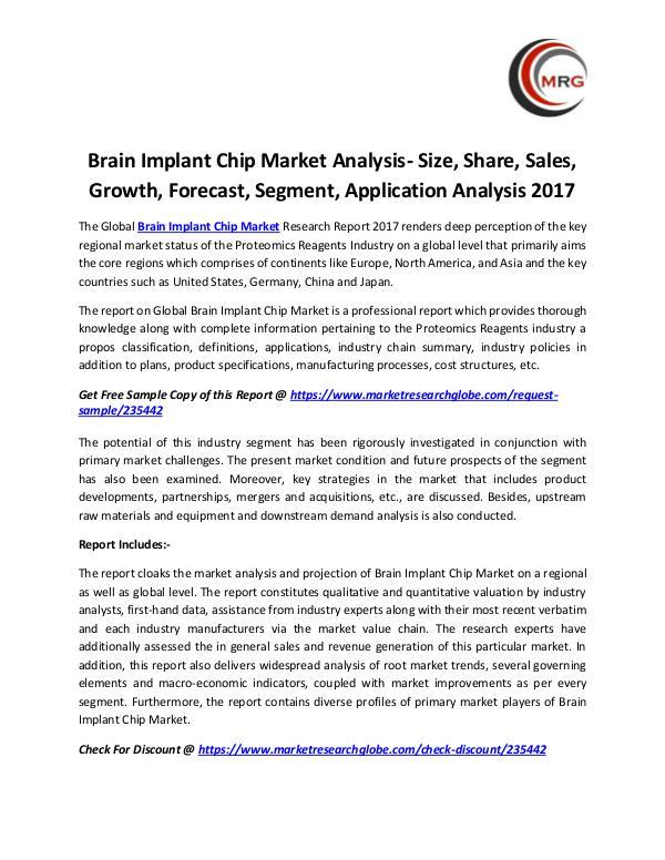 Brain Implant Chip Market Analysis- Size, Share, S