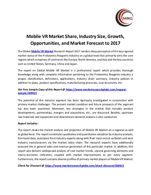 Mobile VR Market Share, Industry Size, Growth, Opp