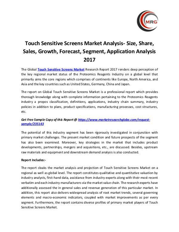 Touch Sensitive Screens Market Analysis- Size, Sha