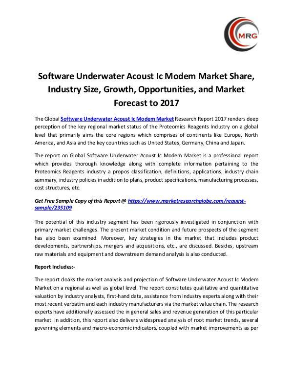 Software Underwater Acoust Ic Modem Market Share,