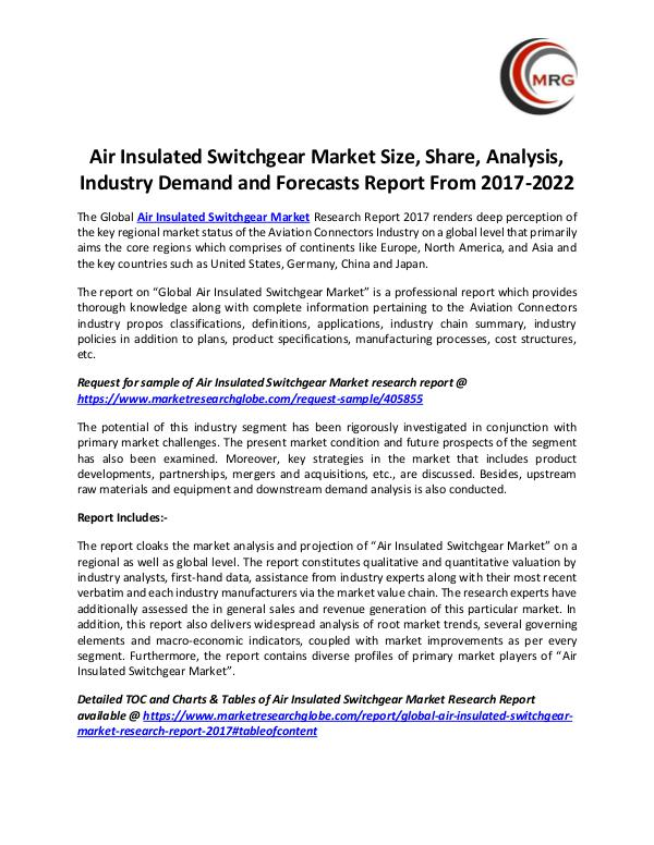 Air Insulated Switchgear Market Size, Share, Analy