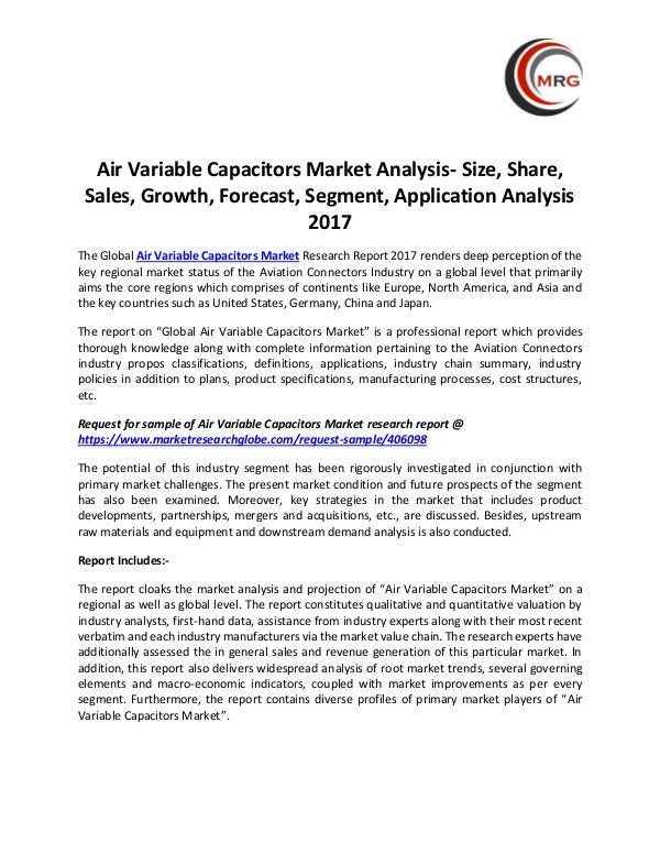 Air Variable Capacitors Market Analysis- Size, Sha