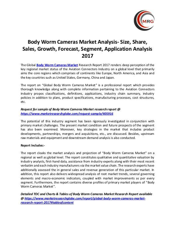 Body Worm Cameras Market Analysis- Size, Share, Sa