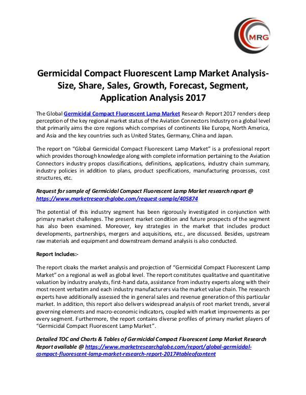 Germicidal Compact Fluorescent Lamp Market Analysi