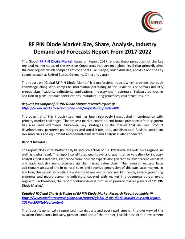 QY Research Groups RF PIN Diode Market Size, Share, Analysis, Industr