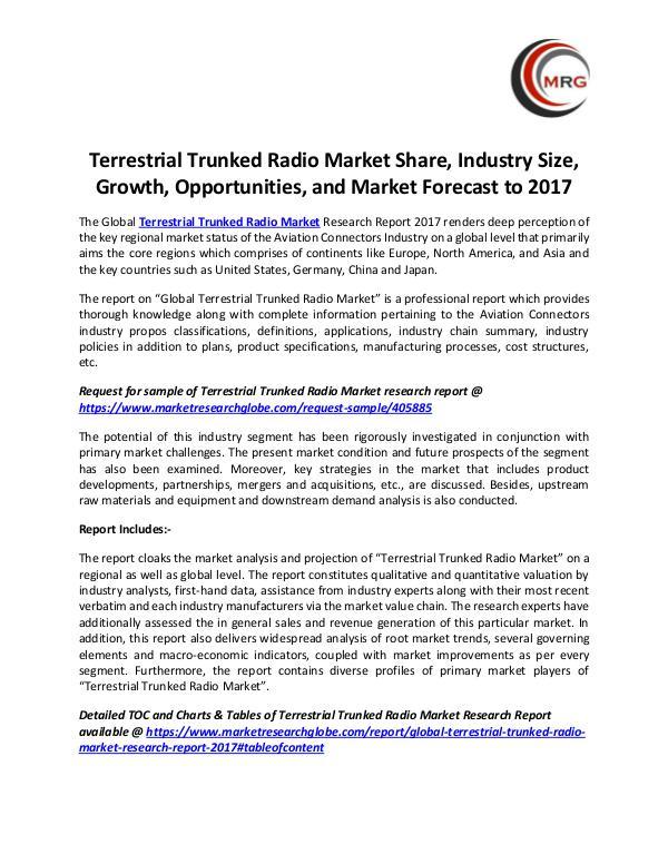 Terrestrial Trunked Radio Market Share, Industry S