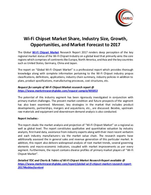 Wi-Fi Chipset Market Share, Industry Size, Growth,